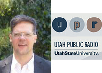 Image of Professor Alex Coppock and UPR Logo