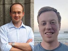 Professor Milan Svolik and Matthew Greene