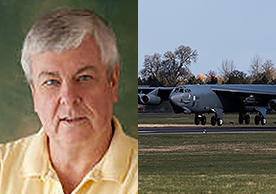 Professor Paul Bracken and B-52 bomber