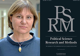 Isabela Mares and cover of Political Science Research and Methods Journal